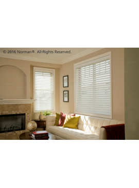 Norman Window Shades SmartPrivacy® Faux Wood Blinds