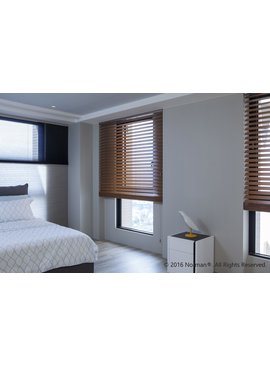 Norman Window Shades Smartprivacy® Normandy® Cordless Wood Blinds