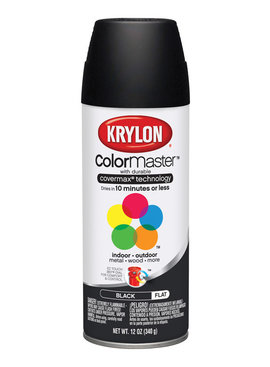 KRYLON PAINTS Krylon Black 12oz Spray Paint