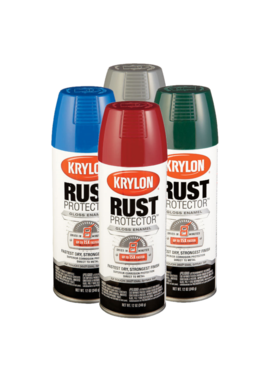 KRYLON PAINTS Krylon Rust Protector 12oz Spray Can Color