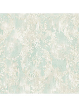 Wallquest Damask Scroll