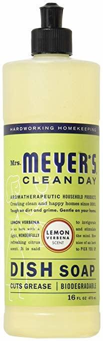 Mrs. Meyers Clean Day Liquid Dish Soap Lemon Verbena Scent