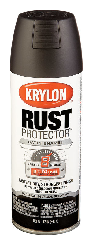 KRYLON PAINTS Krylon Rust protector Black Flat, Satin or Gloss
