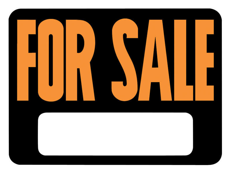 FOR SALE PLASTIC SIGN