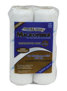 "ARROWORTHY LLC 9"" X 3/8"" MICROFIBER ROLLER 4/PK"