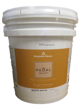 BENJAMIN MOORE REGAL SELECT FLAT  5 GALLON
