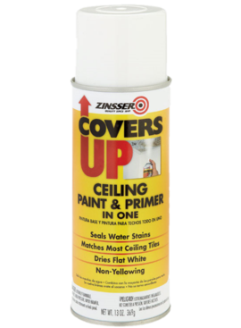 RUST-OLEUM CORPORATION ZINSSER COVERS UP STAIN SEALING CEILING Spray