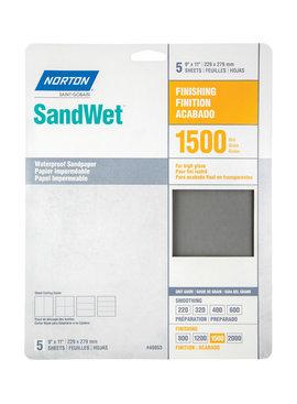 WATERPROOF SANDPAPER - 1500 GRIT 5/PK
