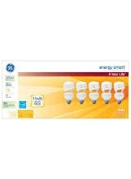 GENERAL ELECTRIC ENERGY SMART 100 26W SPIRAL CFL 5/PK