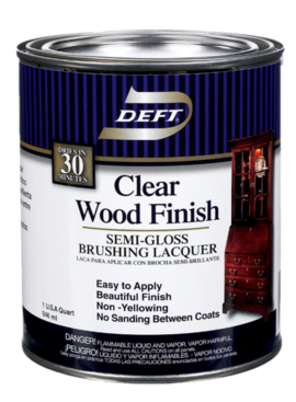 QT DEFT CLEAR WOOD FINISH - SEMI-GLOSS