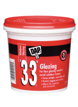 """QT WHITE DAP """"33"""" GLAZING"""