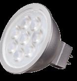 6/5W-MR16 LED-3000K-40' BEAM-GU5.3 BASE-12V AC/DC-50W INCNDSCNT EQUIV