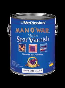 MAN O WAR  SEMI-GLOSS MARINE SPAR VARNS - GAL