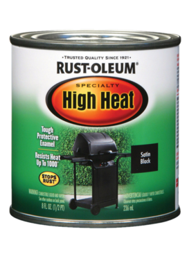 RUST-OLEUM CORPORATION RUST-OLEUM BAR-B-Q BLACK HIGH HEAT - .5PT