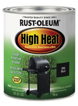 RUST-OLEUM CORPORATION RUSTOLEUM  BAR-B-Q BLACK HIGH HEAT - QT