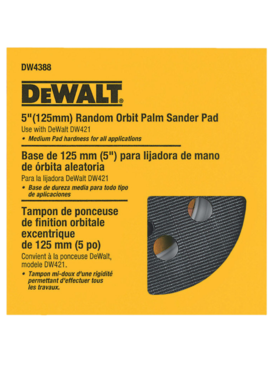 "Dewalt DEWALT 5"" HOOK & LOOK PAD MEDIUM"