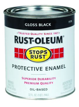 RUST-OLEUM CORPORATION QT GLOSS BLACK STOPS RUST