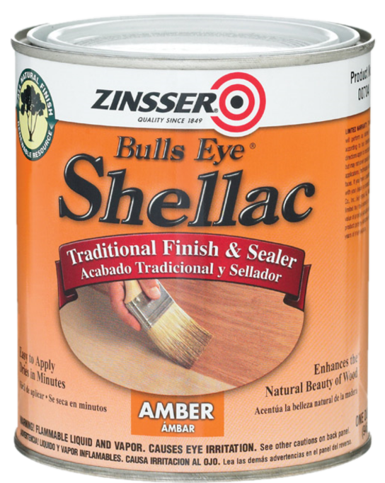 RUST-OLEUM CORPORATION QT/3 LB AMBER SHELLAC - ORANGE