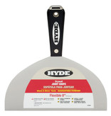 "8"" HYDE  BLACK & SILVER HAMMER HEAD FLEXIBLE DRYWALL JOINT KNIFE"