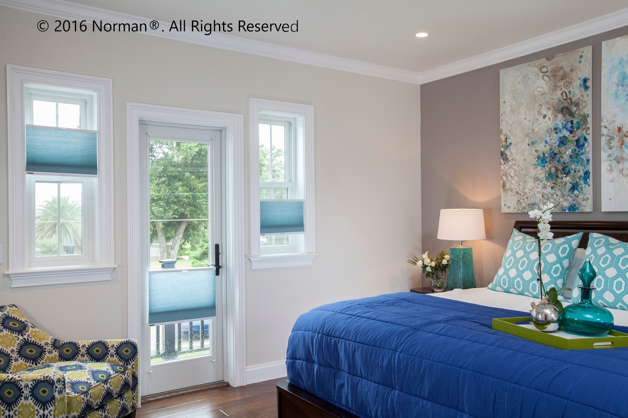 """Norman Window Shades 9/16"""" Single Cell Cordless Honeycomb"""