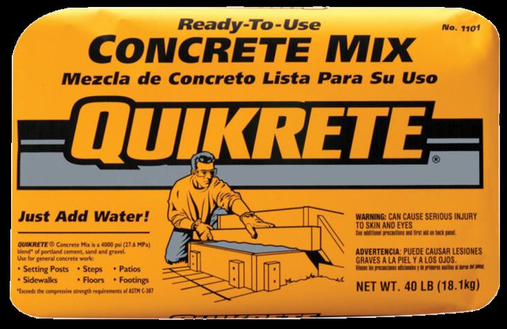 CONCRETE MIX 40# QUIKRETE