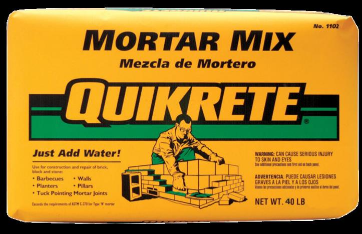 MORTAR MIX 40# QUIKRETE