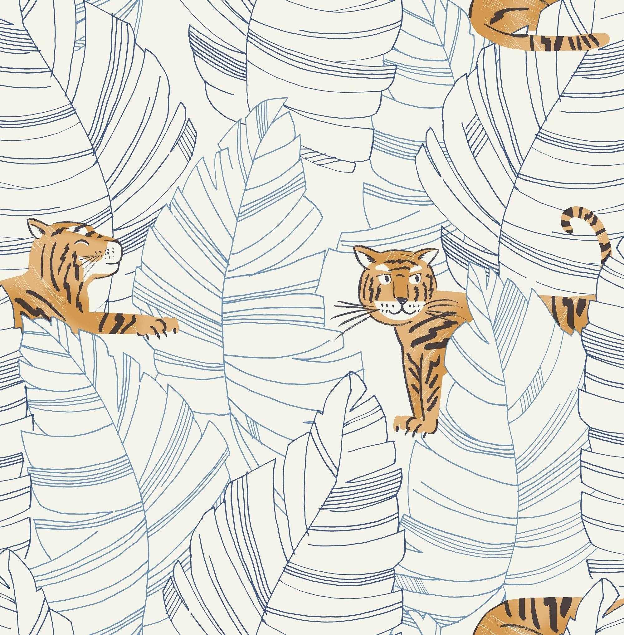 Wallquest Hiding Tigers