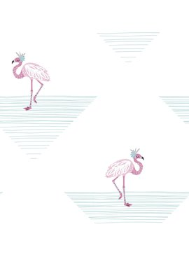 Wallquest Dancing Flamingo