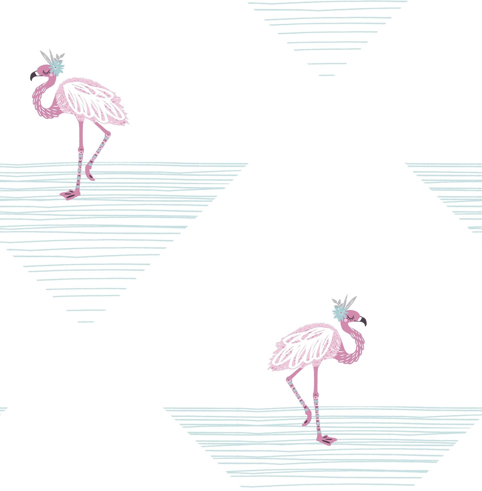 Wallquest Dancing Flamingo