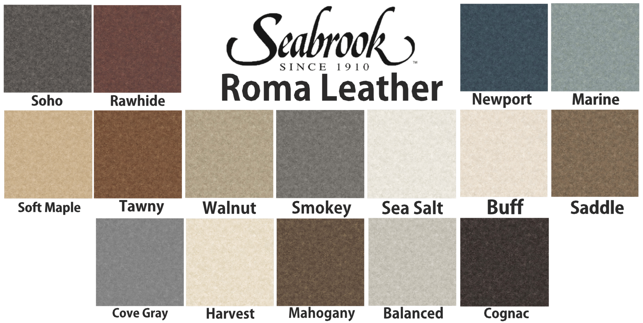 roma leather colors