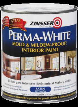 RUST-OLEUM CORPORATION PERMA-WHITE 02704 SATIN BATHROOM WALL/CEILING PA - QT