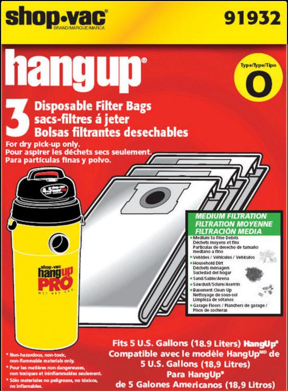 HANGUP VAC BAG 5 GAL