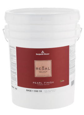 BENJAMIN MOORE REGAL SELECT PEARL FIVE GALLON