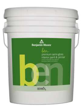 BENJAMIN MOORE BEN SEMI GLOSS 5 GALLON