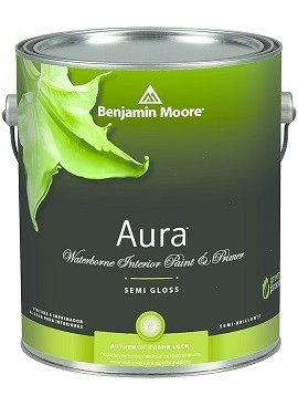 BENJAMIN MOORE 0528 001 AURA SEMI GLOSS - GALLON