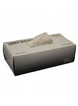 DISPOSABLE LATEX GLOVES POWDERED 100/PK BOX - X-LARGE