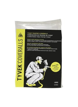 TYVEK DISPOSABLE COVERALLS - LARGE