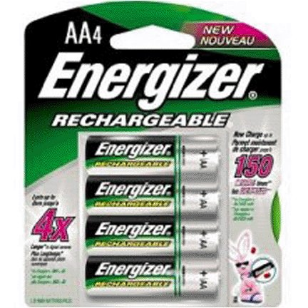 AA RECHARGEABLE NIMH BATTERIES 4/CARD
