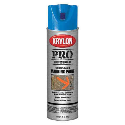 15OZ KRYLON CONTRACTOR SOLVENT-BASED APWA BLUE MARKING SPRAY PAINT