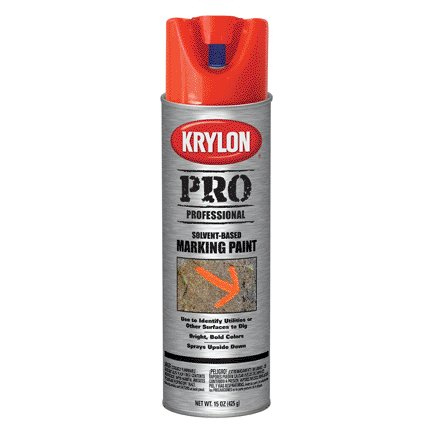 15OZ KRYLON CONTRACTOR SOLVENT-BASED FLUORRED/ORANGE MARKING SPRAY PAINT