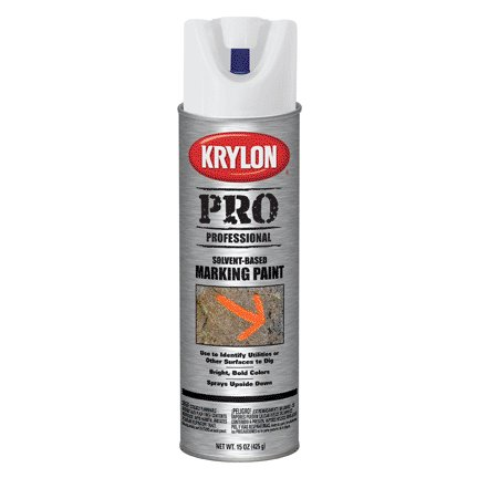 15OZ KRYLON CONTRACTOR SOLVENT-BASED APWA WHITE MARKING SPRAY PAINT