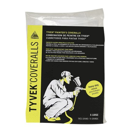 TYVEK DISPOSABLE COVERALLS- XL