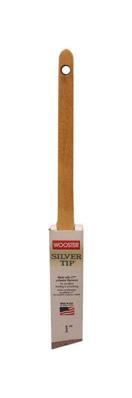 "WOOSTER BRUSH COMPANY WOOSTER 1"" SILVER TIP THIN ANGLE SASH BRUSH"