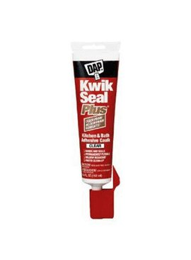 KWIK SEAL PLUS CLEAR  KITCHEN & BATH CAULK 5.5 OZ