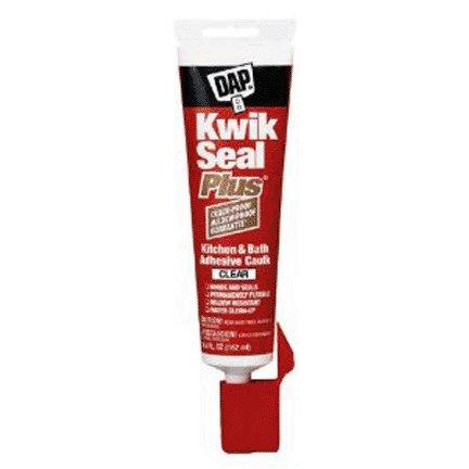 KWIK SEAL PLUS CLEAR  KITCHEN & BATH CAULK 5.5 OZ