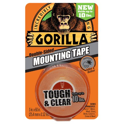 GORILLA 1'' X 60'' MOUNTING TAPE CLEAR