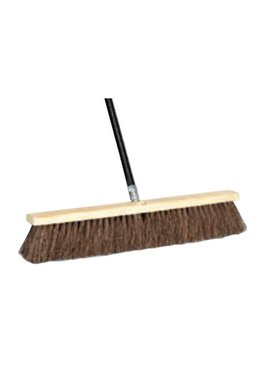 PUSHBROOM 18'' PALMYRA 4'' TRIM W/ 60'' THREADED HANDLE
