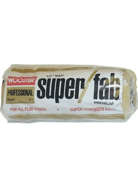 WOOSTER BRUSH COMPANY 7'' SUPER/FAB ROLLER COVER 1/2'' NAP - FLAT PAINTS, STAINS