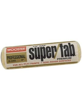 WOOSTER BRUSH COMPANY 9'' SUPER/FAB ROLLER COVER 1/2'' NAP - FLAT PAINTS, STAINS