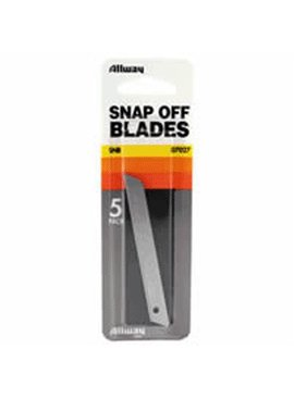 ALLWAY TOOLS ALLWAY 07027 SNB 9MM SNA P-OFF KNIFE BLADE (5CD) - EACH